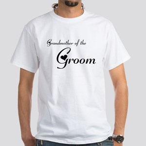 FR Grandma of the Groom's White T-Shirt