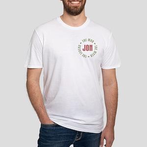 Jon Man Myth Legend Fitted T-Shirt