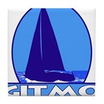 Gitmo Yacht Club Tile Coaster