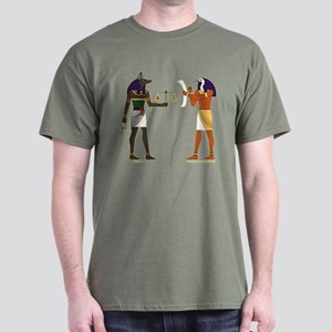 Anubis and Thoth Art Dark T-Shirt