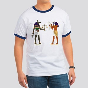 Anubis and Thoth Art Ringer T