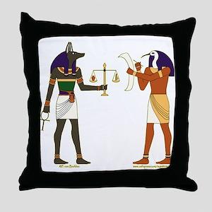 Anubis and Thoth Art Throw Pillow