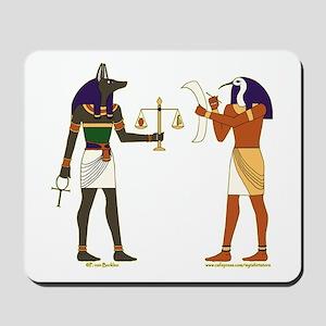 Anubis and Thoth Art Mousepad