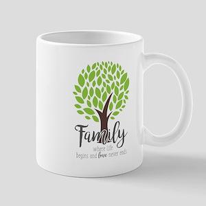 Family Where Life Begins Mug