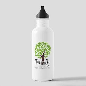 Family Where Life Begi Stainless Water Bottle 1.0L