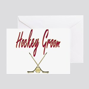 Hockey Groom Greeting Card