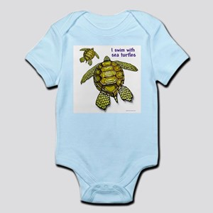 I Swim With Sea Turtles Infant Bodysuit