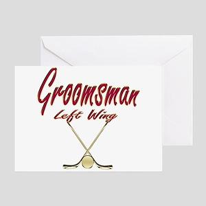 Hockey Groomsman Greeting Card