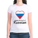 Happily Married Russian Jr. Ringer T-Shirt