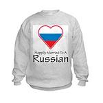 Happily Married Russian Kids Sweatshirt