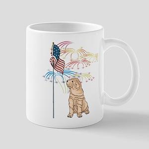USA Flag Shar-Pei Mug
