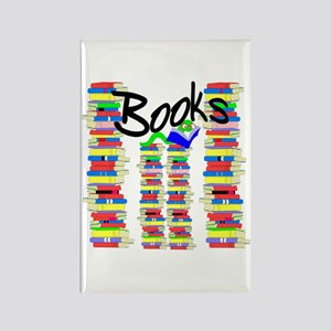 Books Rectangle Magnet
