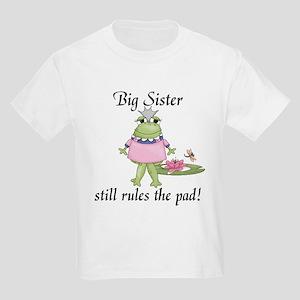 Frog Big Sister Kids Light T-Shirt