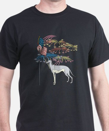 USA Flag Greyhound T-Shirt