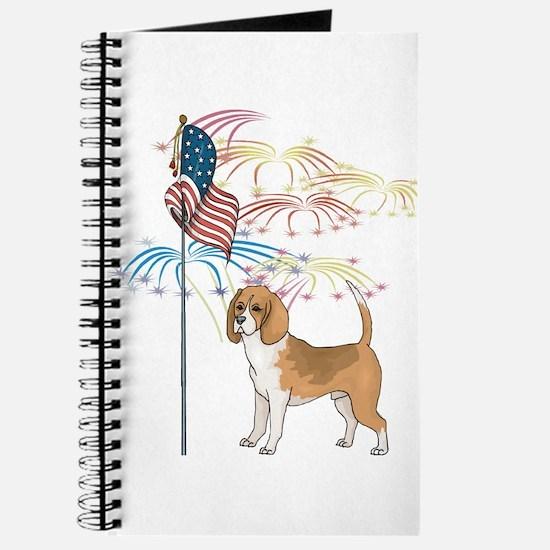 USA Flag Beagle Journal