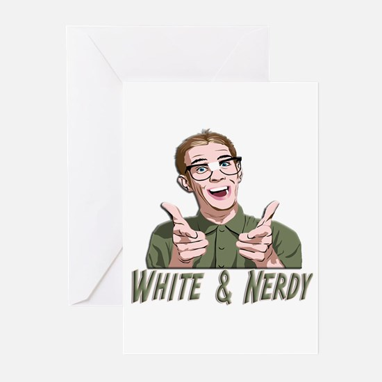 Weird Al Yankovic - White & Nerdy Greeting Cards (