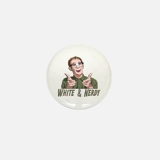 Weird Al Yankovic - White & Nerdy Mini Button