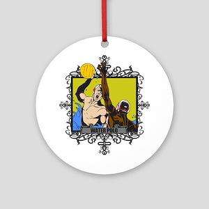 Aggressive Water Polo Ornament (Round)