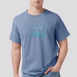 Hawaii Waves and Seagulls Souvenir Design T-Shirt