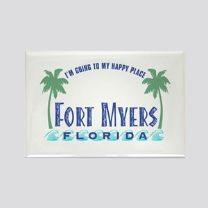 Ft. Myers Happy Place - Rectangle Magnet