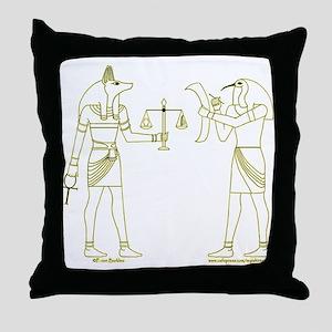 Anubis and Thoth Art II Throw Pillow