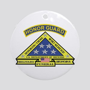 Honor Guard Ornament (Round)