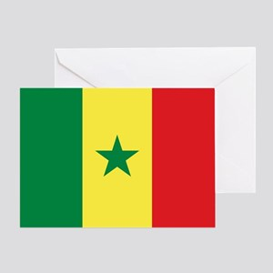 Senegal greeting cards cafepress flag of senegal greeting cards m4hsunfo
