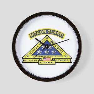 Honor Guard Wall Clock