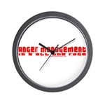 Anger Management Is All The R Wall Clock