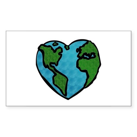 Earth Day Rectangle Sticker
