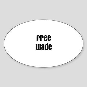 Free Wade Oval Sticker