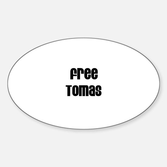 Free Tomas Oval Decal
