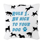 Rule One Woven Throw Pillow