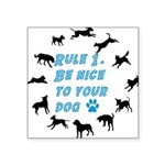 Rule One Square Sticker 3