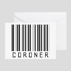 Coroner Barcode Greeting Card