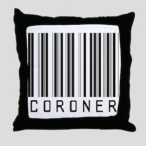 Coroner Barcode Throw Pillow