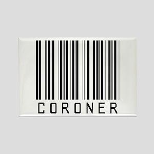 Coroner Barcode Rectangle Magnet