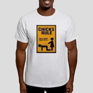 Chicks Rule Women's Pink T-Shirt
