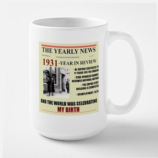 born in 1931 birthday gift Large Mug