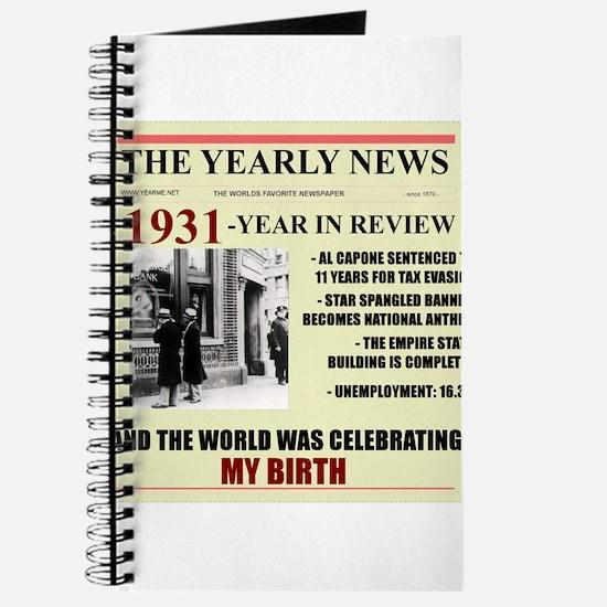 born in 1931 birthday gift Journal