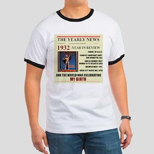 born in 1932 birthday gift Ringer T