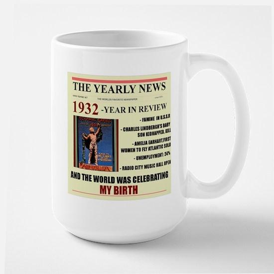 born in 1932 birthday gift Large Mug