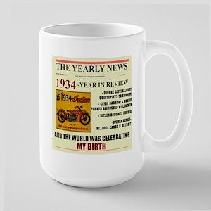 born in 1934 birthday gift Large Mug