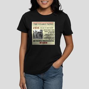 born in 1935 birthday gift Women's Dark T-Shirt