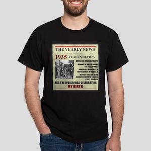 born in 1935 birthday gift Dark T-Shirt