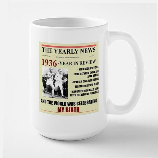 born in 1936 birthday gift Large Mug