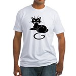 Cute Cat Meow Fitted T-Shirt