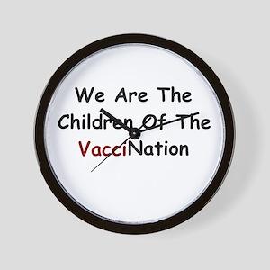 Children Of VacciNation Wall Clock