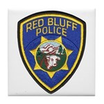 Red Bluff Police Tile Coaster