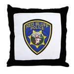 Red Bluff Police Throw Pillow